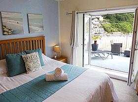 Fowey - Superior double room with balcony and sea views