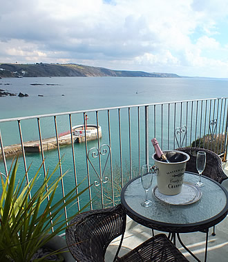 Helford room has spectacular views over Looe town, beach and the sea