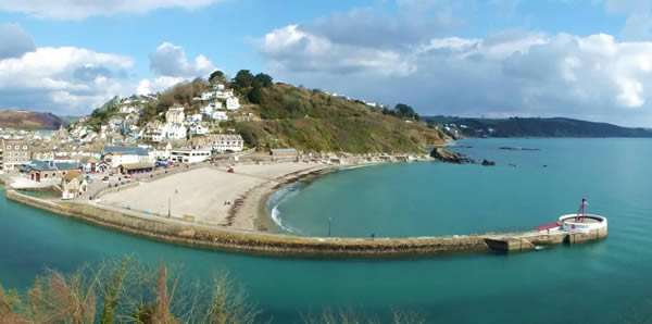 Stunning views over Looe and the coast from the Watermark